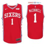 Philadelphia Sixers - Maillot NBA T.J. McConnell 1 Rouge 2017/2018