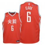 Houston Rockets - Maillot Junior NBA Gary Clark 6 Nike Rouge Ville 2018