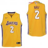 Los Angeles Lakers - Maillot Junior NBA Lonzo Ball 2 Jaune Icon