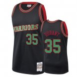Golden State Warriors - Maillot NBA Kevin Durant 35 Noir 2018 Noël