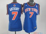 New York Knicks - Maillot Femme NBA Carmelo Anthony 7 Bleu Orange