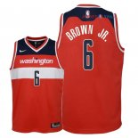 Washington Wizards - Maillot Junior NBA Troy Brown Jr 6 Rouge Icon 2018