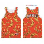 Supreme x Nike - Maillot NBA Air Foamposite Rouge 2018