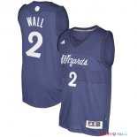 Washington Wizards - Maillot NBA John Wall 2 Bleu 2016 Noël