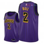 Los Angeles Lakers - Maillot Junior NBA Lonzo Ball 2 Nike Pourpre Ville 2018/2019