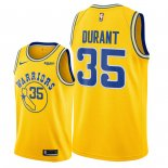 Golden State Warriors - Maillot NBA Kevin Durant 35 Jaune Ville 2018/2019