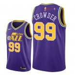 Utah Jazz - Maillot NBA Jae Crowder 99 Retro Pourpre 2018
