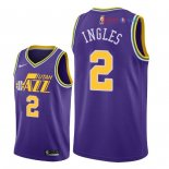 Utah Jazz - Maillot NBA Joe Ingles 2 Retro Pourpre 2018