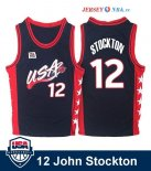 1996 USA - Maillot NBA John Stockton 12 Noir
