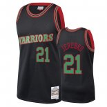 Golden State Warriors - Maillot NBA Jonas Jerebko 21 Noir 2018 Noël