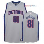 Detroit Pistons - Maillot Junior NBA Jose Calderon 81 Gris Statement