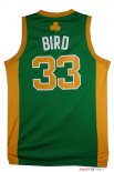 Boston Celtics - Maillot NBA Larry Joe 33 Bird Vert Orange