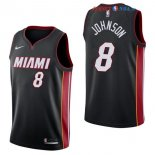 Miami Heat - Maillot NBA Tyler Johnson 8 Noir Icon 2017/2018
