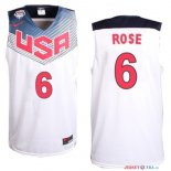 2014 USA - Maillot NBA Rose 6 Blanc