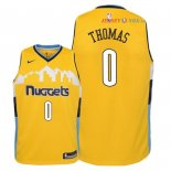 Denver Nuggets - Maillot Junior NBA Isaiah Thomas 0 Jaune Statement 2018