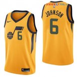 Utah Jazz - Maillot NBA Joe Johnson 6 Jaune Statement 2017/2018