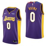Los Angeles Lakers - Maillot NBA Kyle Kuzma 0 Pourpre 2017/2018