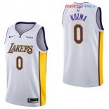 Los Angeles Lakers - Maillot NBA Kyle Kuzma 0 Blanc 2017/2018