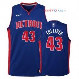 Detroit Pistons - Maillot Junior NBA Anthony Tolliver 43 Bleu Icon