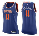 New York Knicks - Maillot Femme NBA Frank Ntilikina 11 Bleu Icon 2017/2018