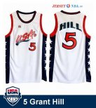 1996 USA - Maillot NBA Grant Hill 5 Blanc