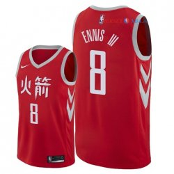 Houston Rockets - Maillot NBA James Ennis III 8 Nike Rouge Ville 2018