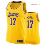 Los Angeles Lakers - Maillot Femme NBA Isaac Bonga 17 Jaune Icon 2018/2019