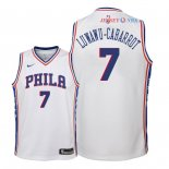 Philadelphia Sixers - Maillot Junior NBA Timothe Luwawu Cabarrot 7 Blanc Association 2018