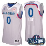 2017 All Star - Maillot NBA kevin love 0 Gray