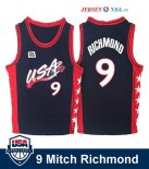 1996 USA - Maillot NBA Mitch Richmond 9 Noir