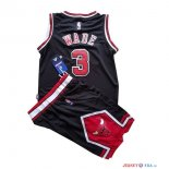 Chicago Bulls - Maillot Junior NBA Dwyane Wade 3 Noir
