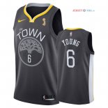 Golden State Warriors - Maillot NBA Nick Young 6 Noir 2018 Finales Champions