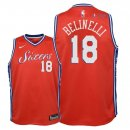 Philadelphia Sixers - Maillot Junior NBA Marco Belinelli 18 Rouge Statement 2018