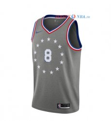 Philadelphia Sixers - Maillot Junior NBA Zhaire Smith 8 Nike Gris Ville 2018/2019