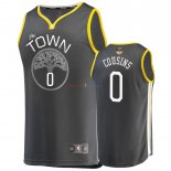 Golden State Warriors - Maillot NBA Demarcus Cousins 0 Gris Statement 2019 Finales Champions