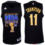 Golden State Warriors - Maillot NBA Thompson 11 Noir 2015 Finales Champions