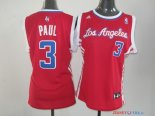 Los Angeles Clippers - Maillot Femme NBA Chris Paul 3 Rouge