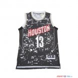 Houston Rockets - Maillot NBA James Harden 13 Noir Ville Lumières