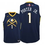 Denver Nuggets - Maillot Junior NBA Michael Porter Jr 1 Nike Marine Ville 2018