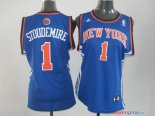 New York Knicks - Maillot Femme NBA Amar'e Stoudemire 1 Bleu Orange