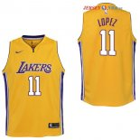 Los Angeles Lakers - Maillot Junior NBA Brook Lopez 11 Jaune Icon