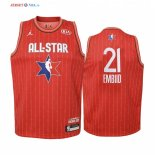 2020 All Star-Maillot Junior NBA Joel Embiid 21 Rouge