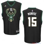 Milwaukee Bucks - Maillot NBA Greg Monroe 15 Noir