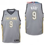 Cleveland Cavaliers - Maillot Junior NBA Dwyane Wade 9 Nike Gris Ville