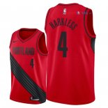 Portland Trail Blazers - Maillot NBA Maurice Harkless 4 Rouge Statement 2018