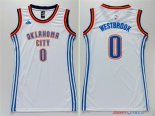 Oklahoma City Thunder - Maillot Femme NBA Russell Westbrook 0 Blanc