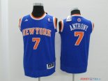 New York Knicks - Maillot Junior NBA Carmelo Anthony 7 Bleu