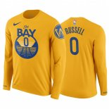 Golden State Warriors-T-Shirt NBA D'Angelo Russell Manga Larga Jaune