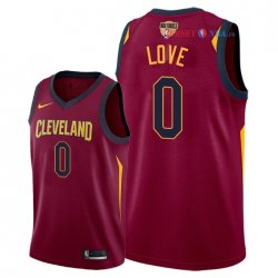 Cleveland Cavaliers - Maillot NBA Kevin Love 0 Rouge Icon Patch 2018 Finales Champions