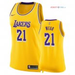 Los Angeles Lakers - Maillot Femme NBA Travis Wear 21 Jaune Icon 2018/2019